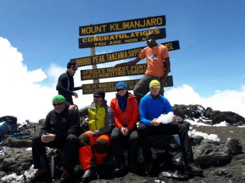 on top of mount kilimanjaro